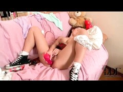 Big bazookas teen in sneakers anal toy sex