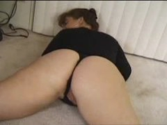 Fat chick in solo amateur striptease