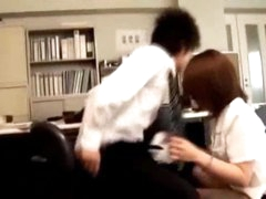 Office Lady Giving Blowjob Fingered During the time that Bending To The Desk In The Office