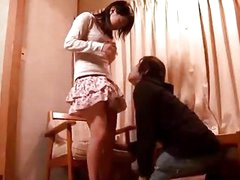 Shy Beauty Getting Her Muff Licked Fingered While Sitting On The Chair In The Room