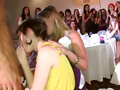 Chicks blow ramrods on private party