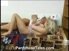 Sylvia&Tessa mindblowing pantyhose video