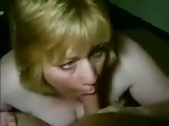 Fat golden-haired smokes cock