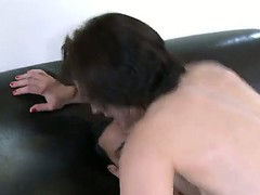 Marco Rivera got on his taut cock a hawt dark brown babe Sarah Shevon, this babe rides his dick very hawt and passionate!