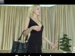 Judith wearing pantyhose on movie scene