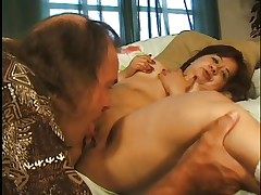 little brunette doxy making a ideal oral sex