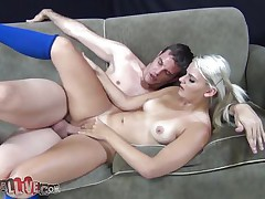 mature golden-haired rides fucking machine for the first time ever