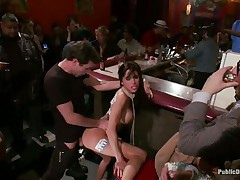 gia dimarco gets humiliated and satisfied in a bar