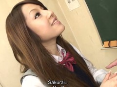 Wicked Ria Sakurai gets gangbanged after classes
