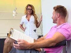 Busty blond nurse
