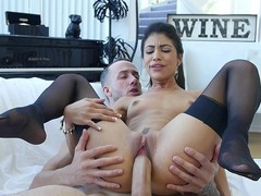 Tiny latina in nylons Veronica Rodriguez