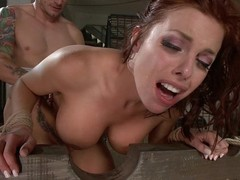 Redhead Milf gets her gazoo punished deep