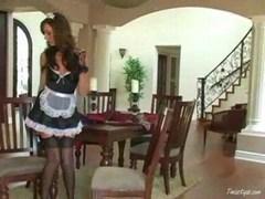 Tiffany is a slutty maid 1
