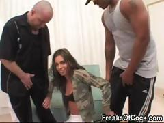 Sexy pornstar Naomi Russell likes big black dicks and biggest dildos