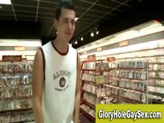 Gay str8 gloryhole blowjob