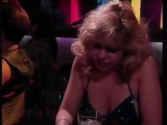 Classic porn with Rebecca Wild picking up a guy at the bar and getting drilled