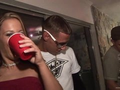 Drunk Honeys Kara Tai and Tiffany Merlot Getting Fucked In College Party