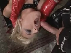 Kinky latex trio with fantastic sluts